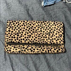 Handbags - Leopard fold over clutch
